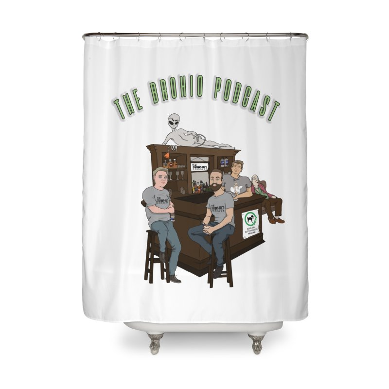 Carton with text Home Shower Curtain by Brohio Merch