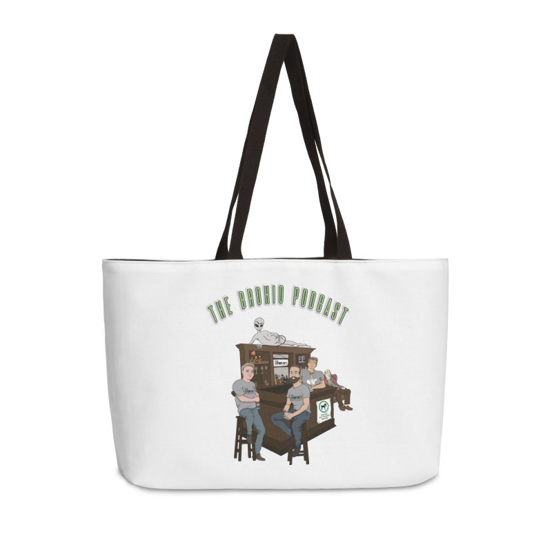 Carton with text Accessories Weekender Bag Bag by Brohio Merch
