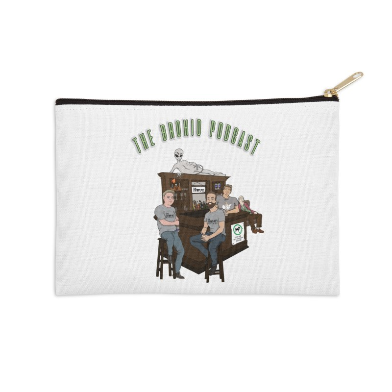 Carton with text Accessories Zip Pouch by Brohio Merch