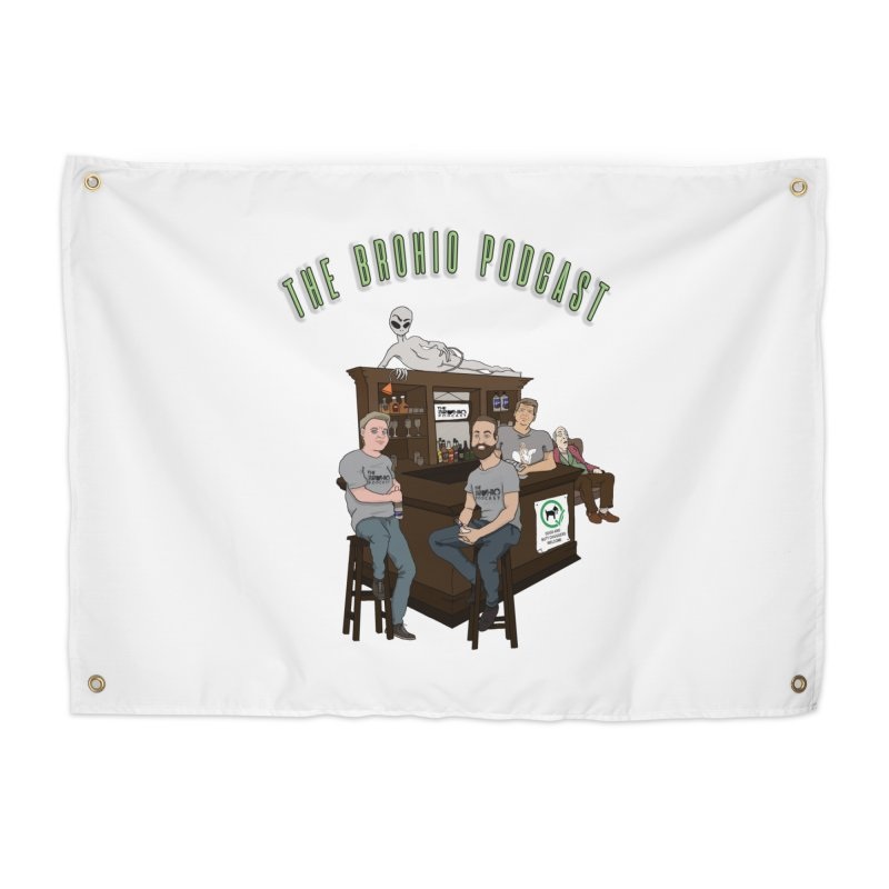 Carton with text Home Tapestry by Brohio Merch