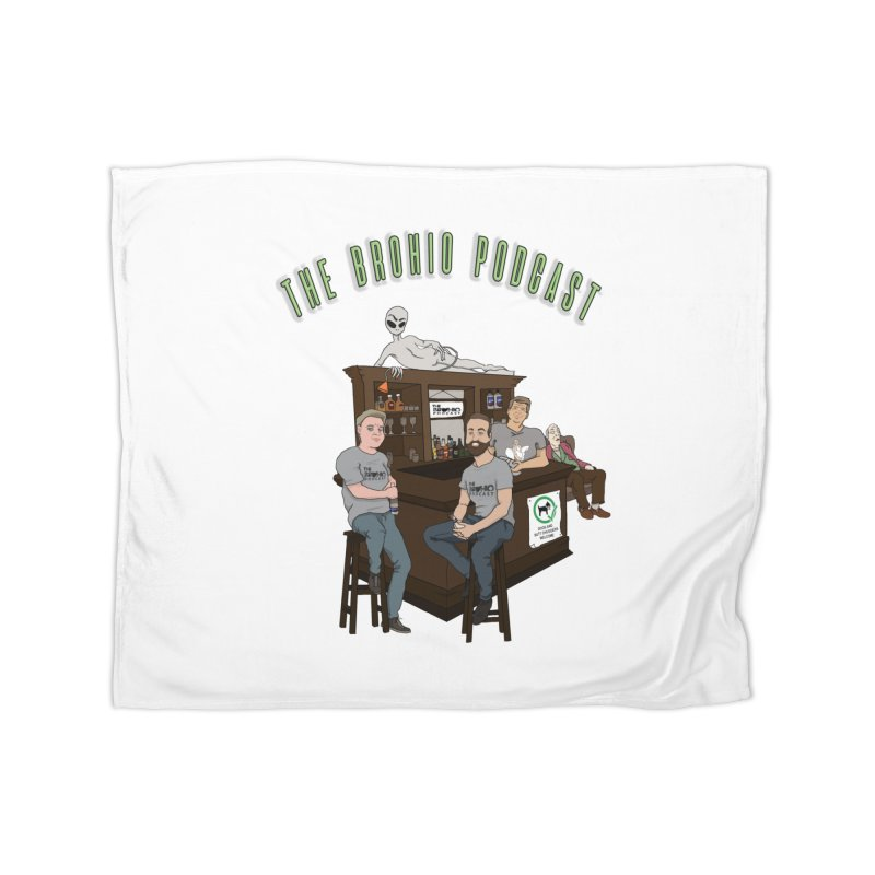 Carton with text Home Fleece Blanket Blanket by Brohio Merch