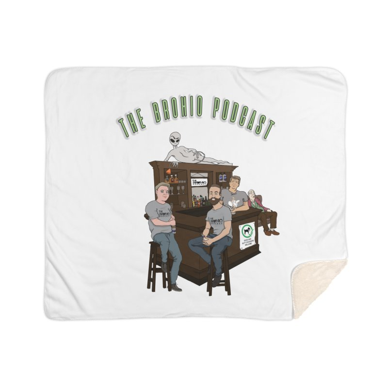Carton with text Home Sherpa Blanket Blanket by Brohio Merch