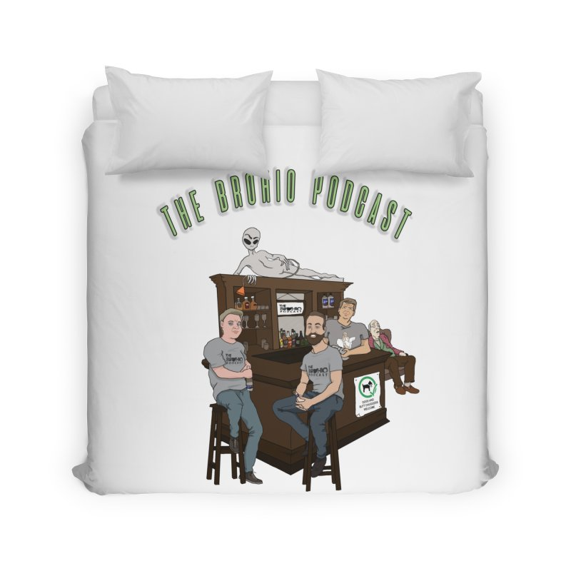 Carton with text Home Duvet by Brohio Merch