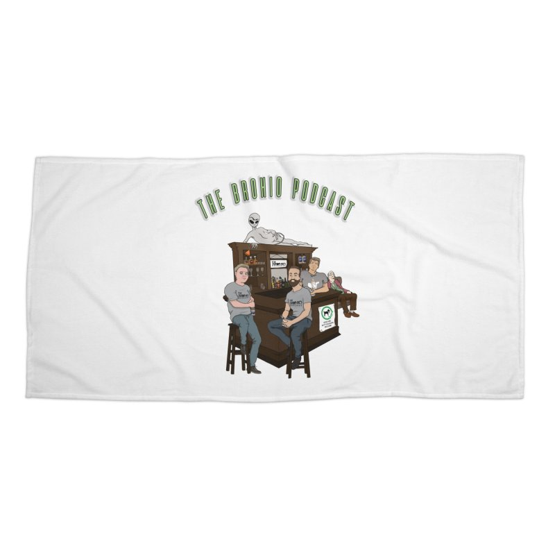 Carton with text Accessories Beach Towel by Brohio Merch