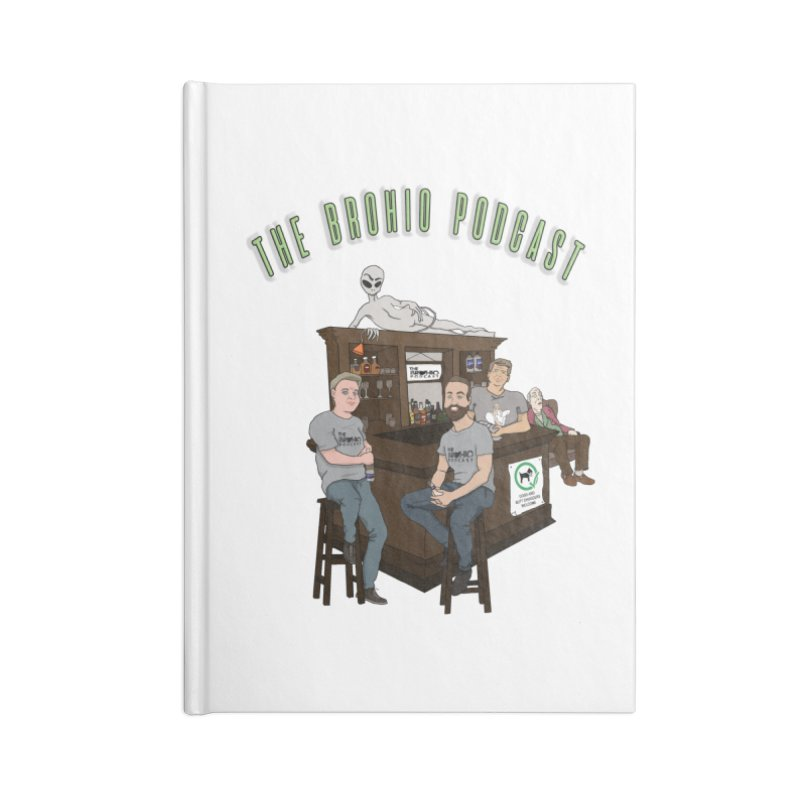 Carton with text Accessories Lined Journal Notebook by Brohio Merch
