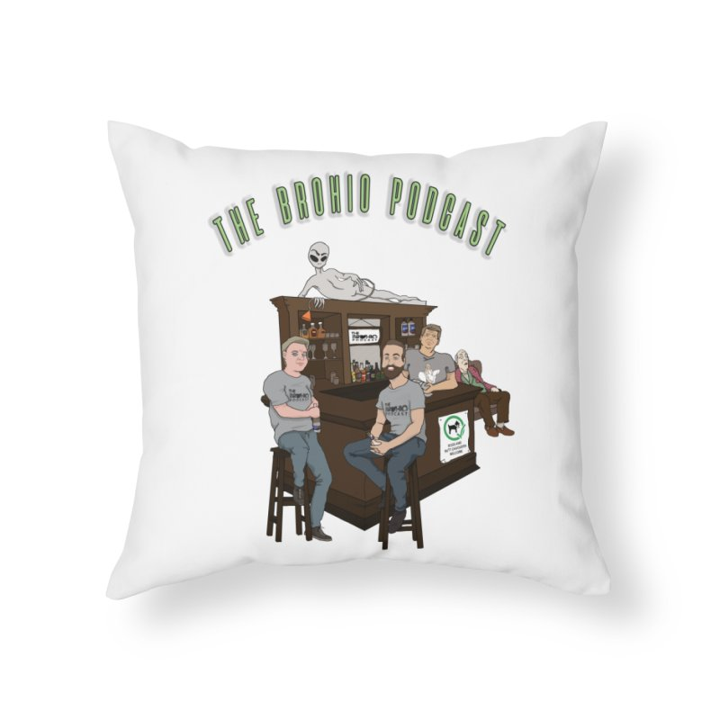 Carton with text Home Throw Pillow by Brohio Merch