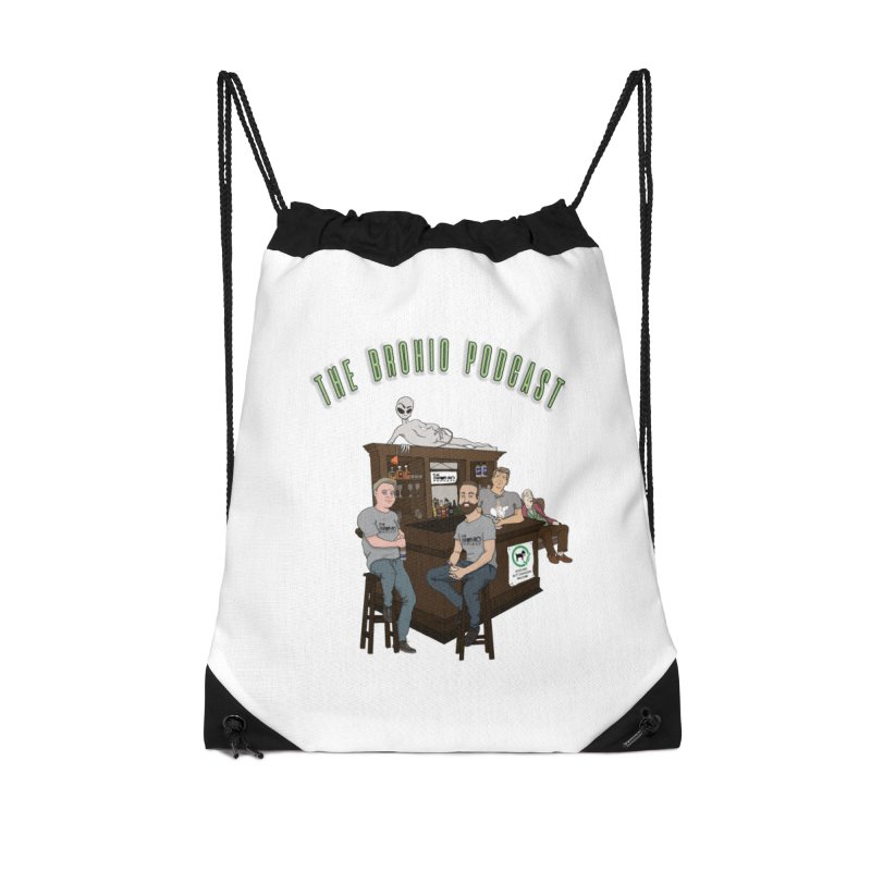 Carton with text Accessories Drawstring Bag Bag by Brohio Merch