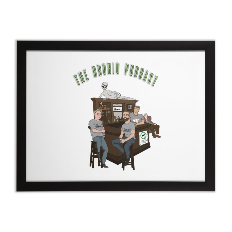 Carton with text Home Framed Fine Art Print by Brohio Merch