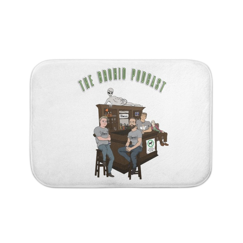 Carton with text Home Bath Mat by Brohio Merch