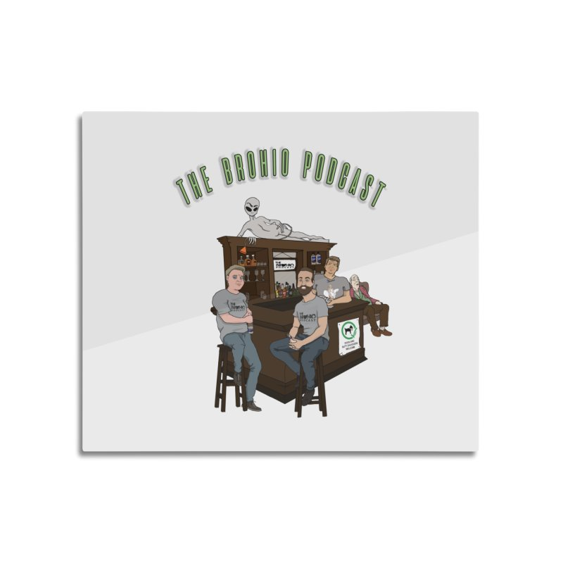 Carton with text Home Mounted Acrylic Print by Brohio Merch