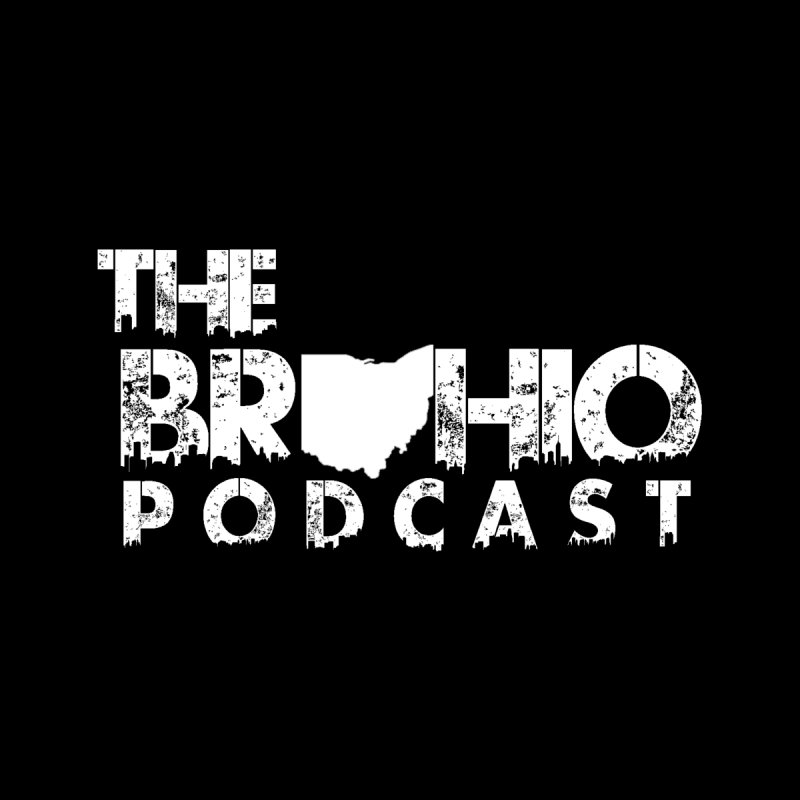 Brohio logo ALL WHITE None  by Brohio Merch