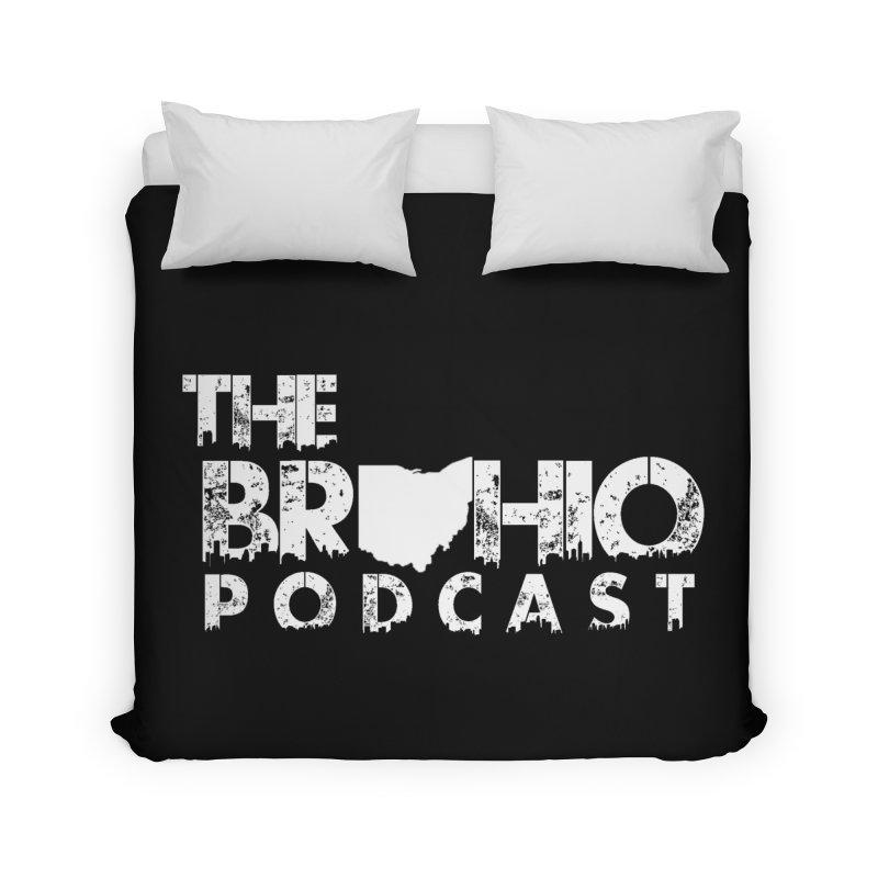Brohio logo ALL WHITE Home Duvet by Brohio Merch