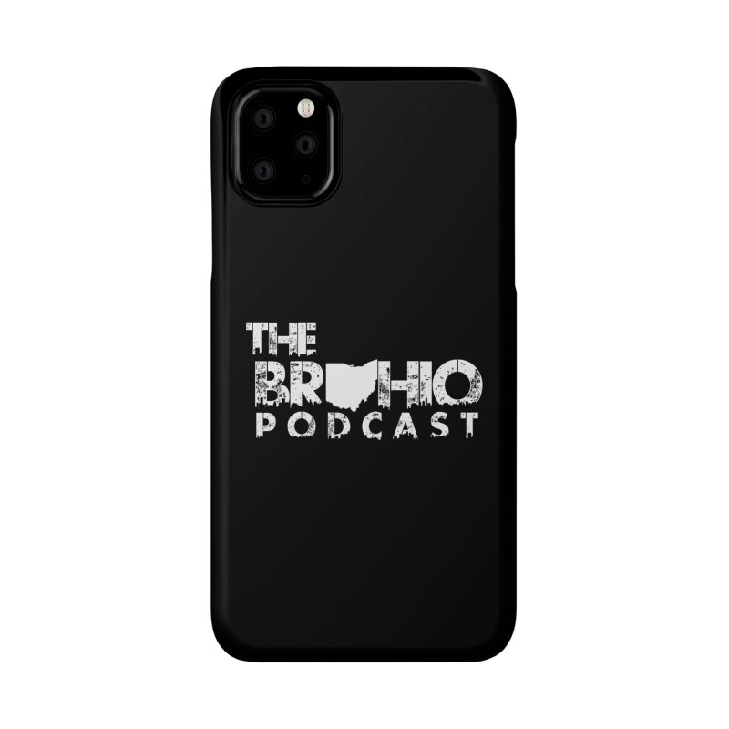 Brohio logo ALL WHITE Accessories Phone Case by Brohio Merch