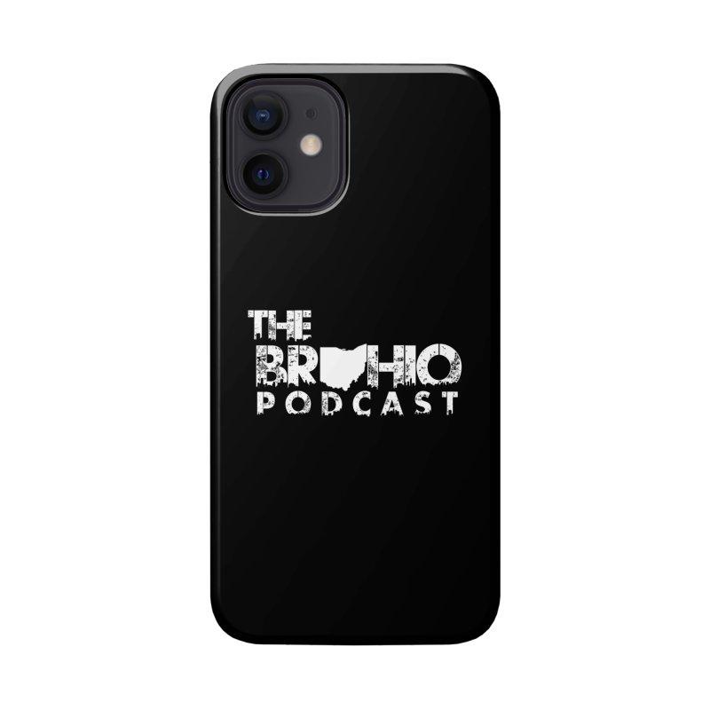 Brohio logo ALL WHITE Accessories Phone Case by Brohio Merch