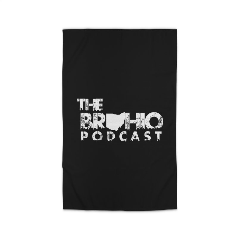 Brohio logo ALL WHITE Home Rug by Brohio Merch