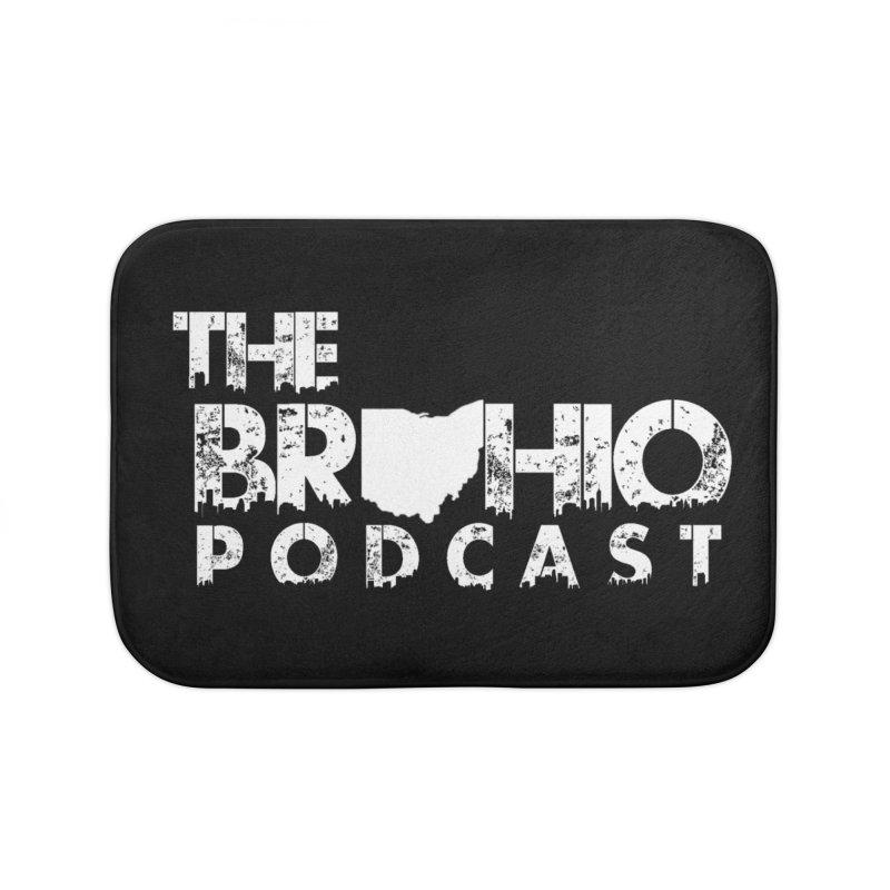Brohio logo ALL WHITE Home Bath Mat by Brohio Merch