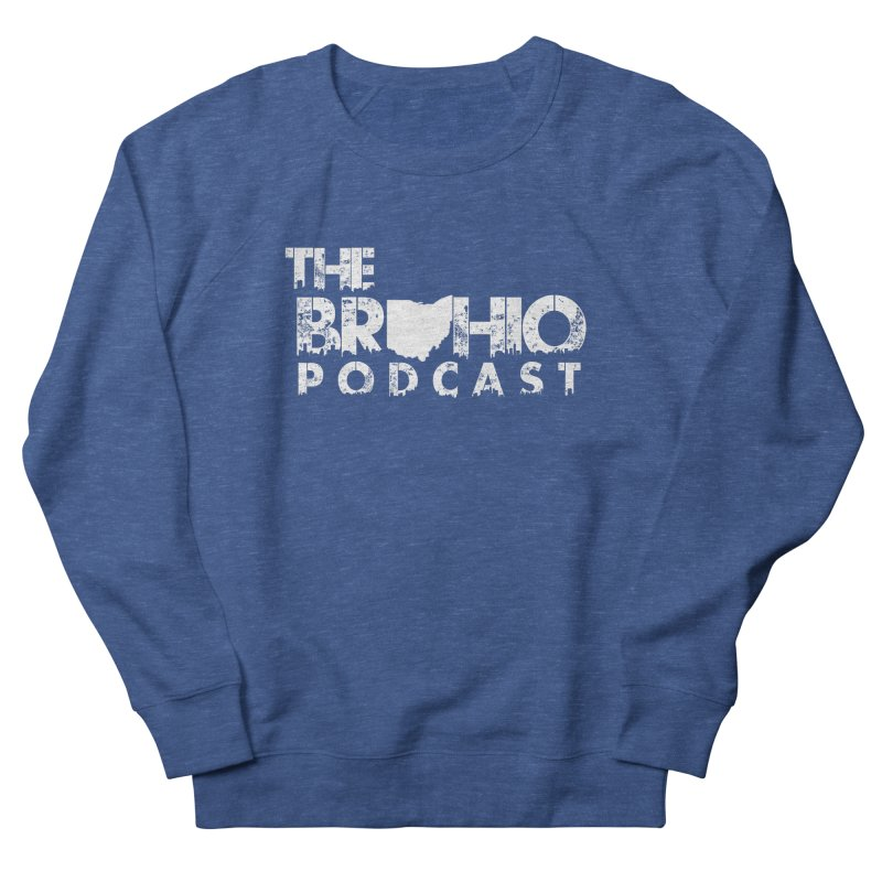 Brohio logo ALL WHITE Men's Sweatshirt by Brohio Merch