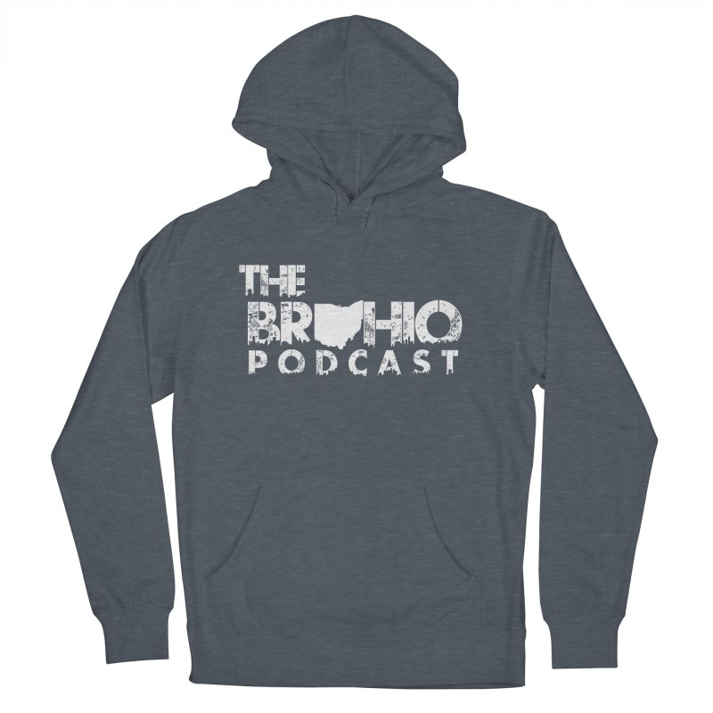 Brohio logo ALL WHITE Women's Pullover Hoody by Brohio Merch