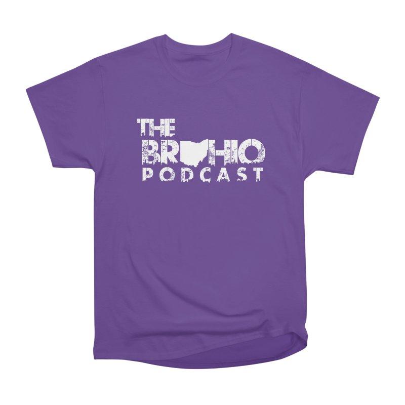 Brohio logo ALL WHITE Women's Heavyweight Unisex T-Shirt by Brohio Merch