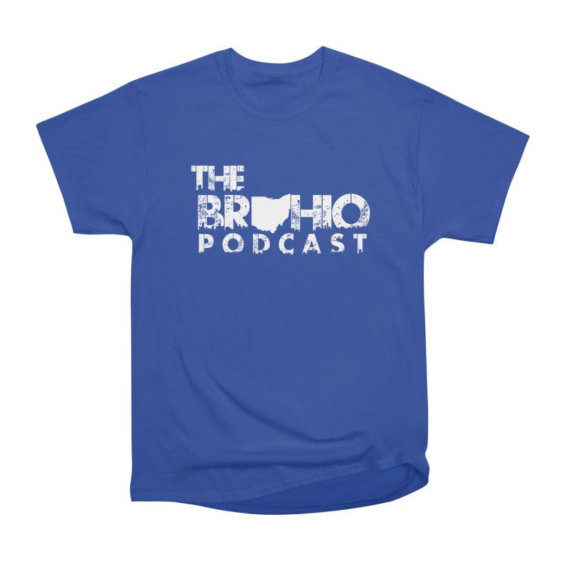 Brohio logo ALL WHITE Men's Heavyweight T-Shirt by Brohio Merch