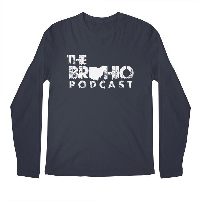 Brohio logo ALL WHITE Men's Regular Longsleeve T-Shirt by Brohio Merch