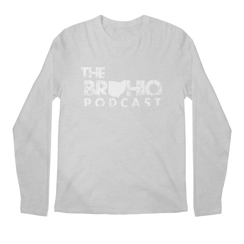 Brohio logo ALL WHITE Men's Regular Longsleeve T-Shirt by Brohio Merch