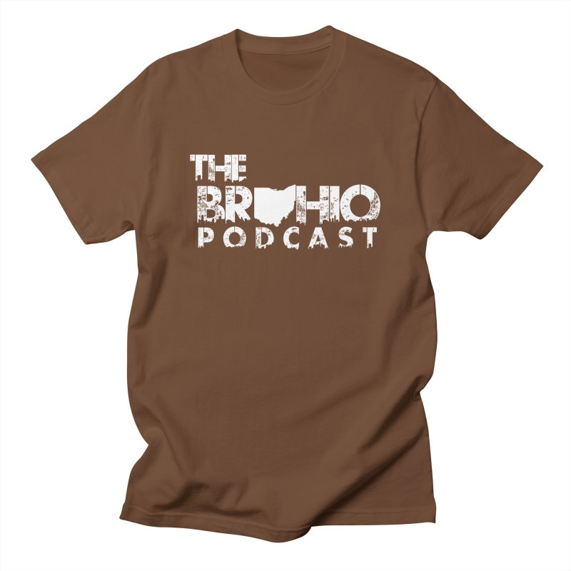 Brohio logo ALL WHITE Men's Regular T-Shirt by Brohio Merch