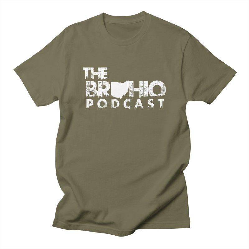 Brohio logo ALL WHITE Men's Regular T-Shirt by Brohio Merch