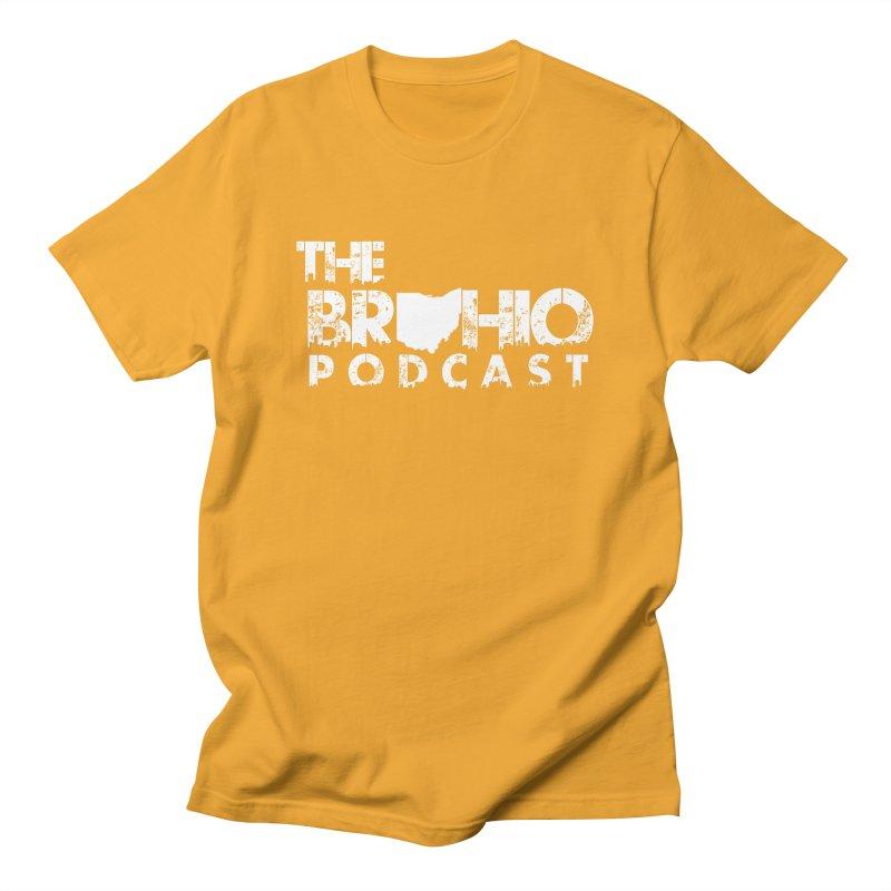 Brohio logo ALL WHITE Men's T-Shirt by Brohio Merch