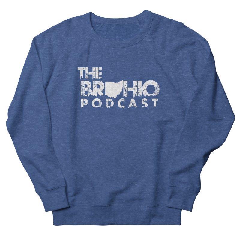 Brohio logo ALL WHITE Women's French Terry Sweatshirt by Brohio Merch