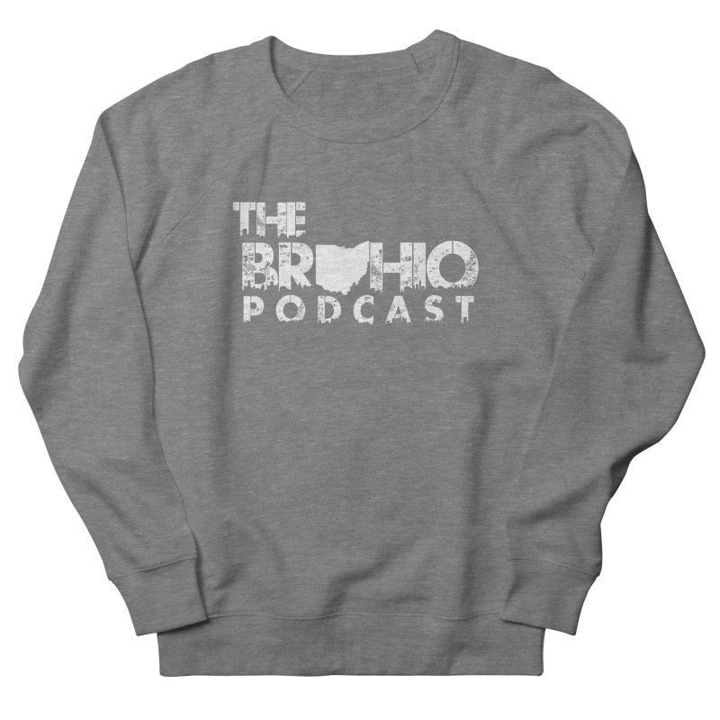Brohio logo ALL WHITE Women's French Terry Sweatshirt by Brohio Merch