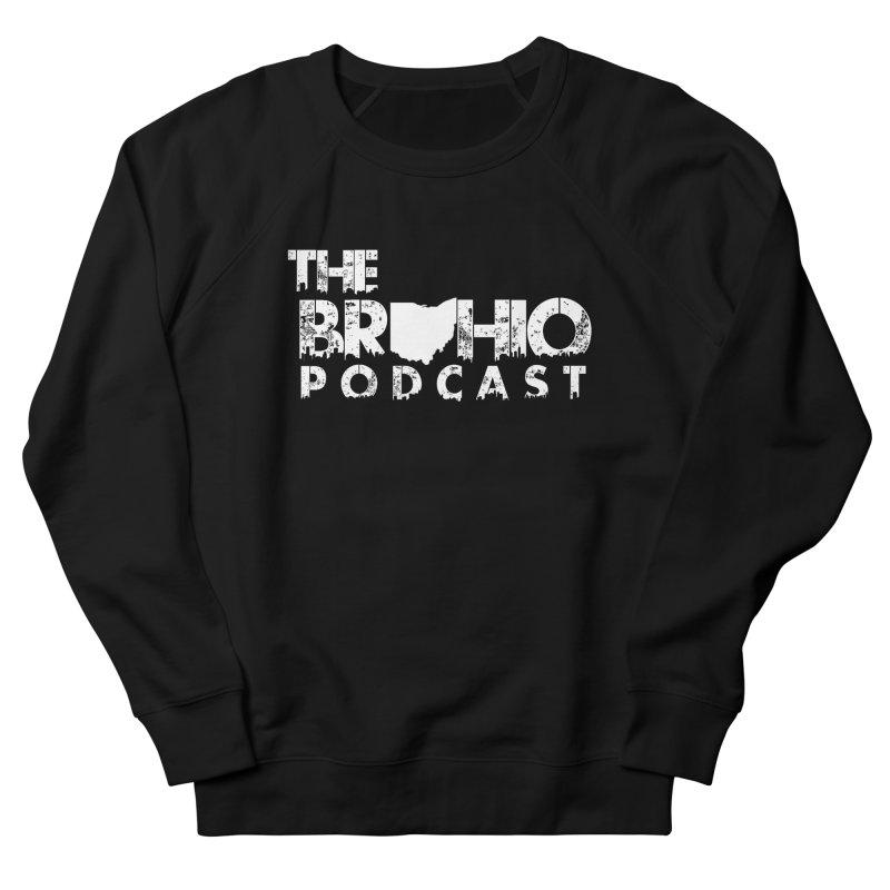 Brohio logo ALL WHITE Men's French Terry Sweatshirt by Brohio Merch
