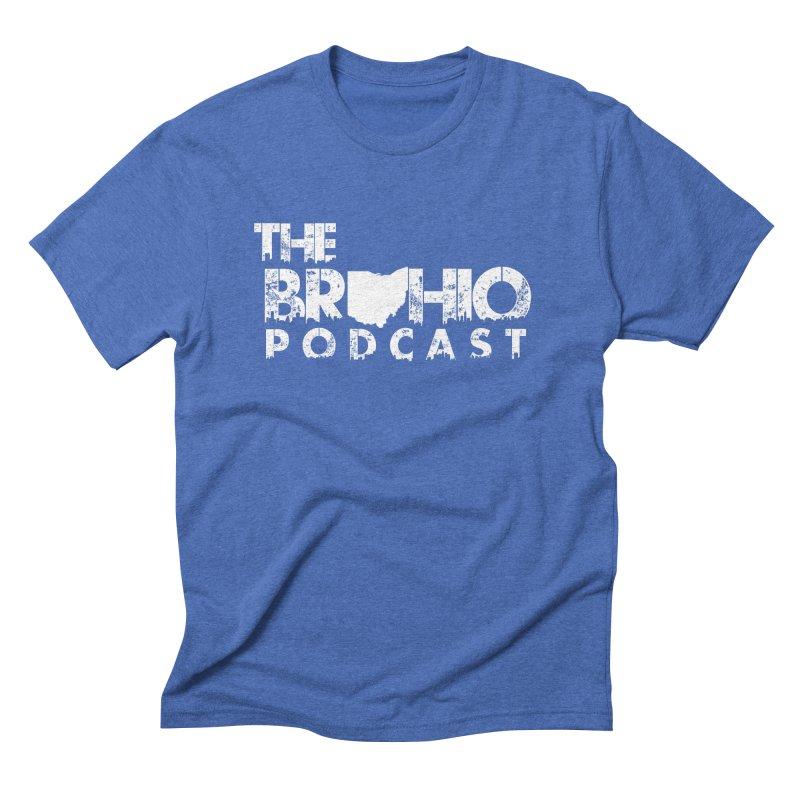 Brohio logo ALL WHITE Men's Triblend T-Shirt by Brohio Merch