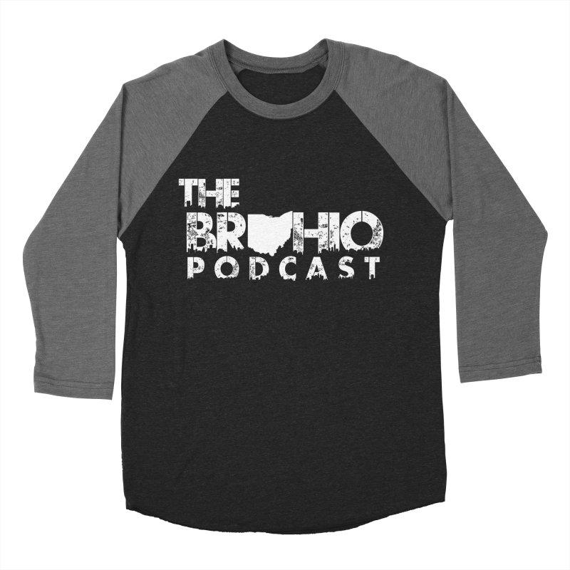 Brohio logo ALL WHITE Women's Baseball Triblend Longsleeve T-Shirt by Brohio Merch