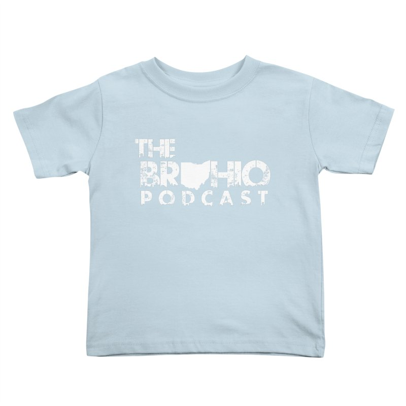 Brohio logo ALL WHITE Kids Toddler T-Shirt by Brohio Merch