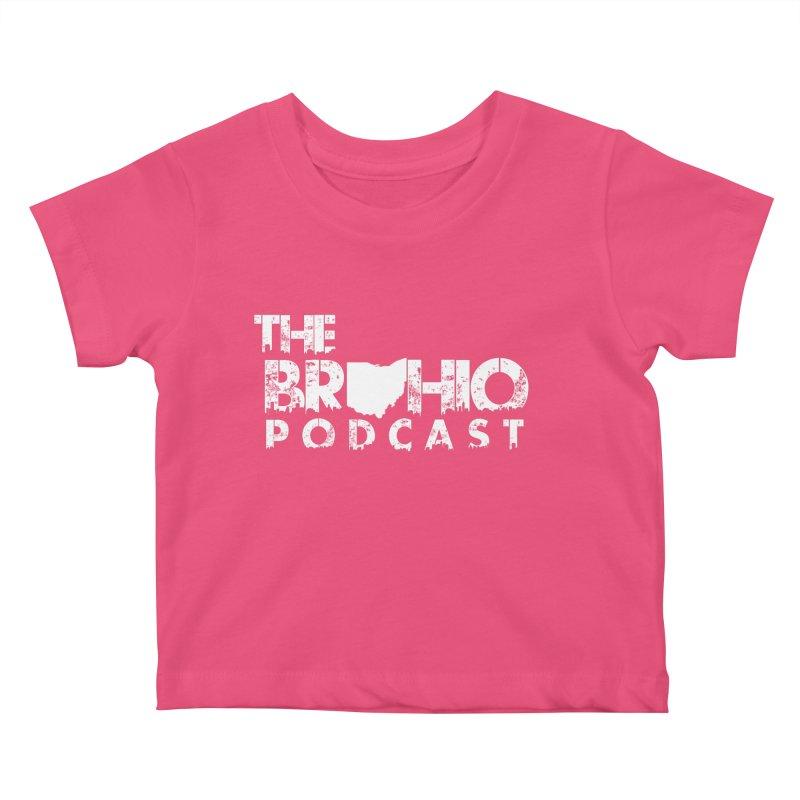 Brohio logo ALL WHITE Kids Baby T-Shirt by Brohio Merch