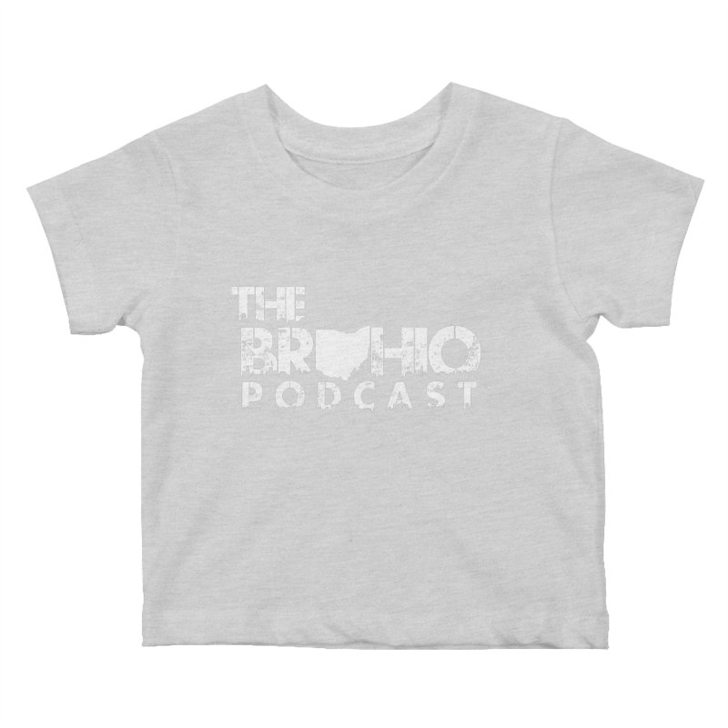 Brohio logo ALL WHITE Kids Baby T-Shirt by Brohio Merch