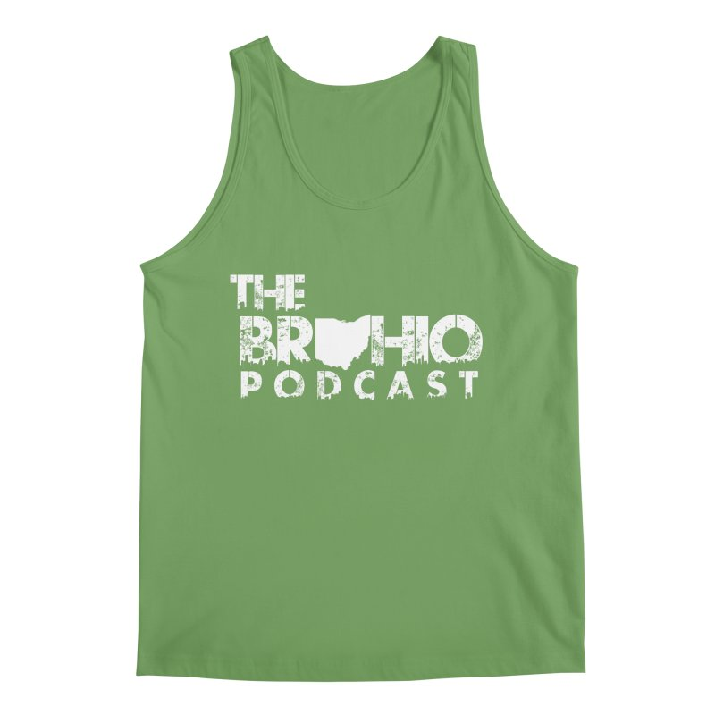 Brohio logo ALL WHITE Men's Tank by Brohio Merch