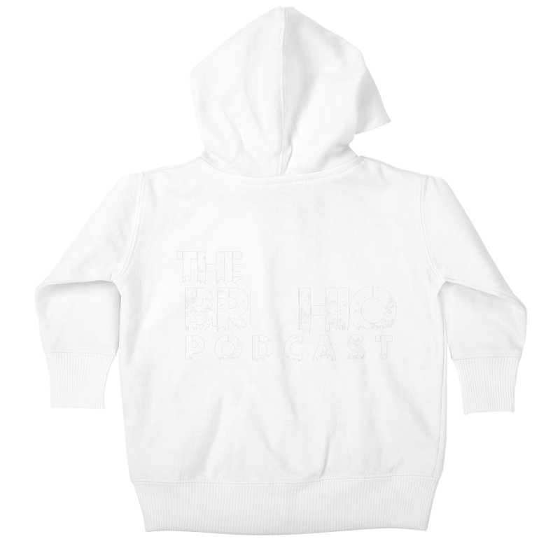 Brohio logo ALL WHITE Kids Baby Zip-Up Hoody by Brohio Merch