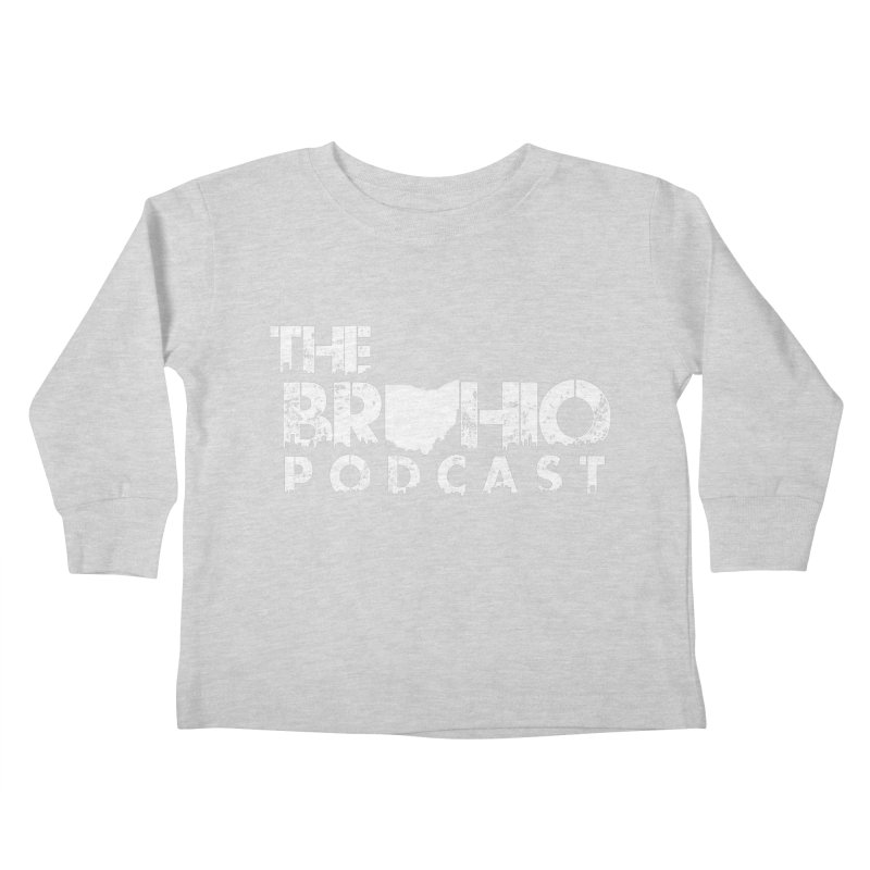 Brohio logo ALL WHITE Kids Toddler Longsleeve T-Shirt by Brohio Merch