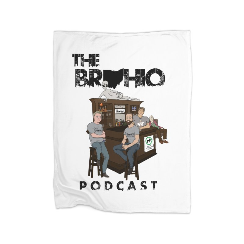 All good things Home Fleece Blanket Blanket by Brohio Merch