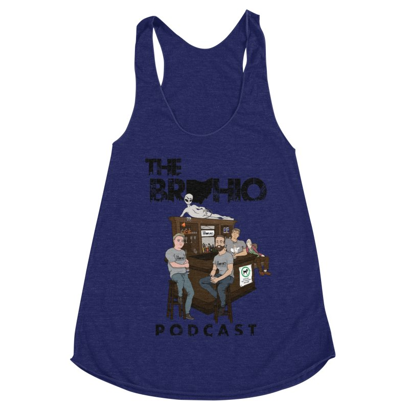 All good things Women's Racerback Triblend Tank by Brohio Merch