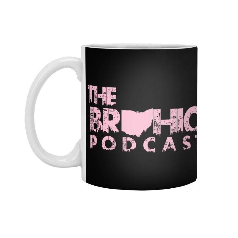 Pink logo Accessories Standard Mug by Brohio Merch