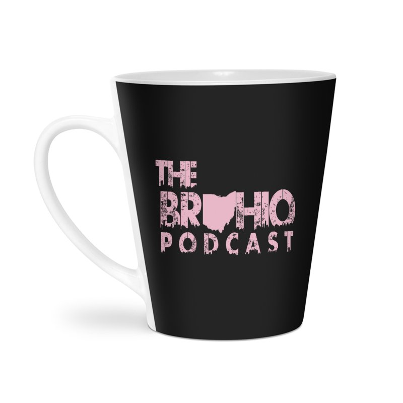 Pink logo Accessories Latte Mug by Brohio Merch