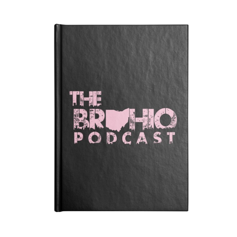 Pink logo Accessories Lined Journal Notebook by Brohio Merch