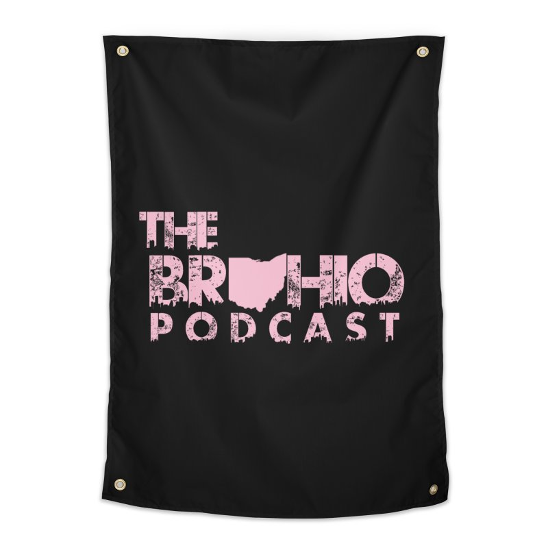 Pink logo Home Tapestry by Brohio Merch