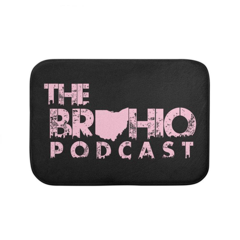 Pink logo Home Bath Mat by Brohio Merch