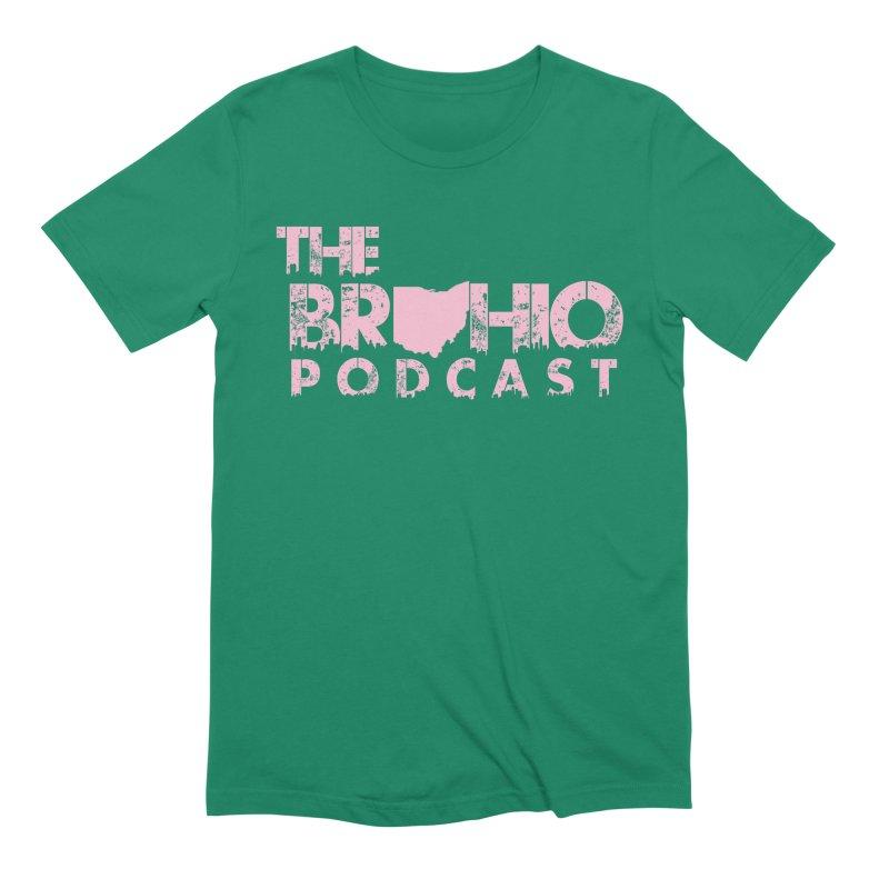 Pink logo Men's Extra Soft T-Shirt by Brohio Merch