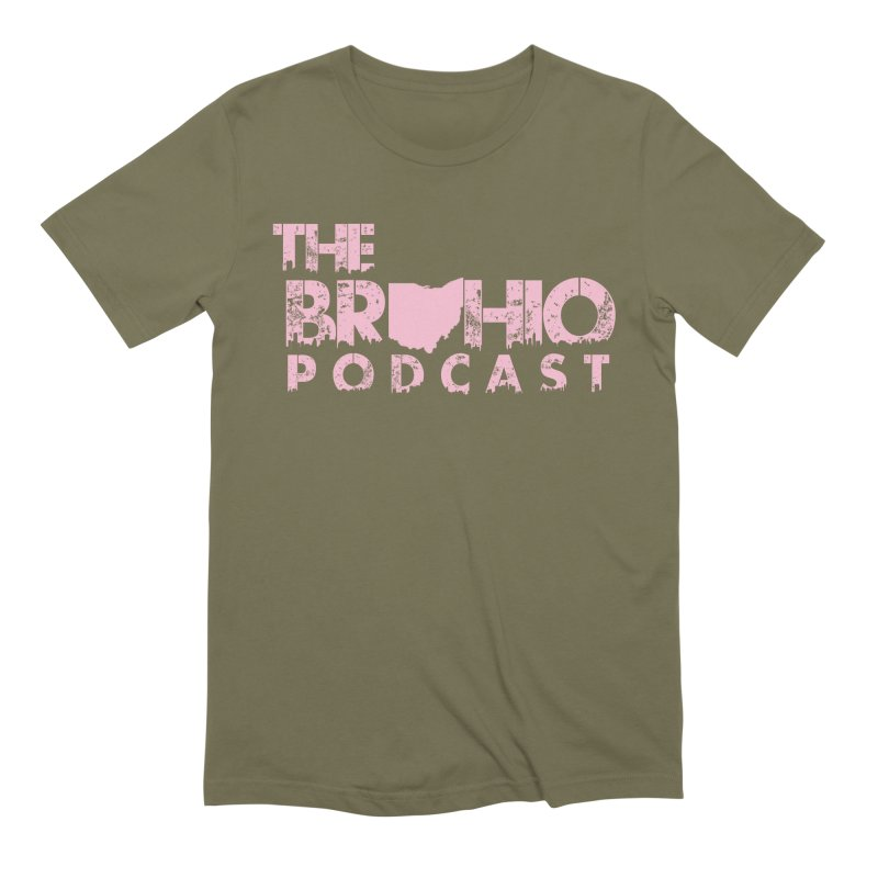 Pink logo Men's Extra Soft T-Shirt by Brohio Merch