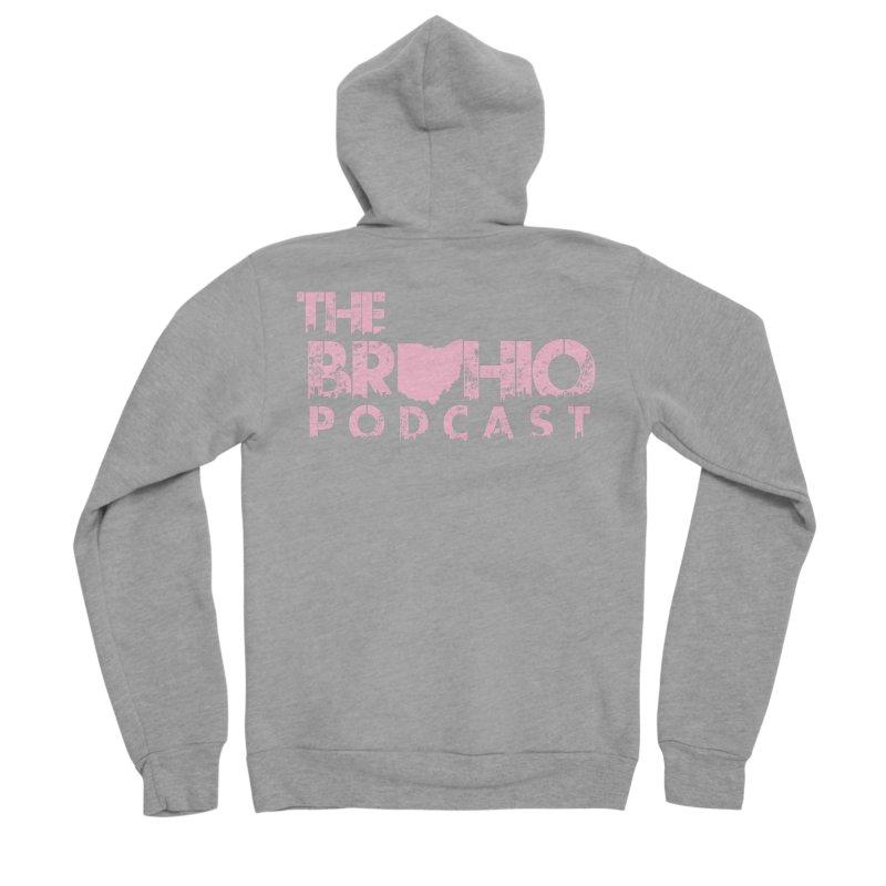 Pink logo Men's Sponge Fleece Zip-Up Hoody by Brohio Merch